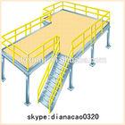 Steel mezzanine racking floor system