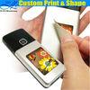 Custom print shaped microfiber sticky cleaner for mobile