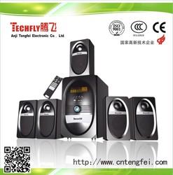 New Design !!! 5.1 hi-fi LED digital home theatre system/surround sound stereo /card reader subwoofer