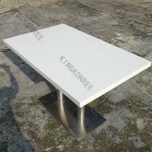 kingkonree luxury modern pure white dining table