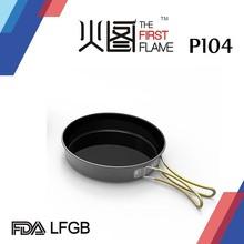 Hard anodized aluminum cook set LFGB FDA w/ silicone handle P104