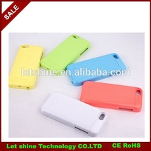2200mAh External Rechargeable Backup Battery Power Charger Case Cover for iphone 5 5c 5S with retail package