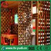 modern and elegant stainless steel room partition design