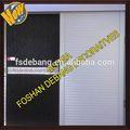 Quarto de alumínio portas de correr/escritório porta de vidro deslizante/escritório interior porta deslizante