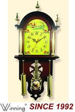Antique Wooden Pendulum Wall Clock