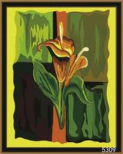 Lily flower DIY digital oil painting by numbers