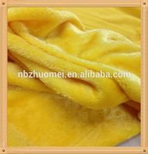 [JOY] 100% polyester, light yellow 10mm long hair fake plush, use for cat funiture