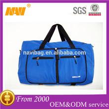 2014 new wholesale blue 600d polyester FOLDABL TRAVEL BAG DUFFL BAG