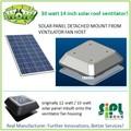 30 vatios solares del techo de ventilación del ventilador pulgadas 14, hecho en china de energía soleado