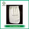 High Quality White Velvet Drawstring Bag