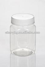 Food Grade Wide Mouth Plastic Pet Amber, Black Honey Food,Peanut Butter Empty Jar Have 250g,500g,1000g