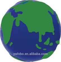 6.5cm foam material pu stress earth stress toy supply stress earth ball