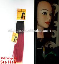Modern Way silk straight ombre chiffon synthetic braiding hair weave