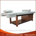 Tratamiento de la madera de madera mesa de masaje ceragem esteras/alfombrillas para la cama de madera faciales king size mesas para la venta