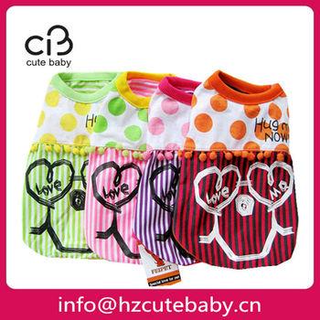 heart smiling wholesale dog clothes / pet clothes / dog apparel