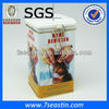 hinged lid pet food tin box &storage metal packing pet animal tin can