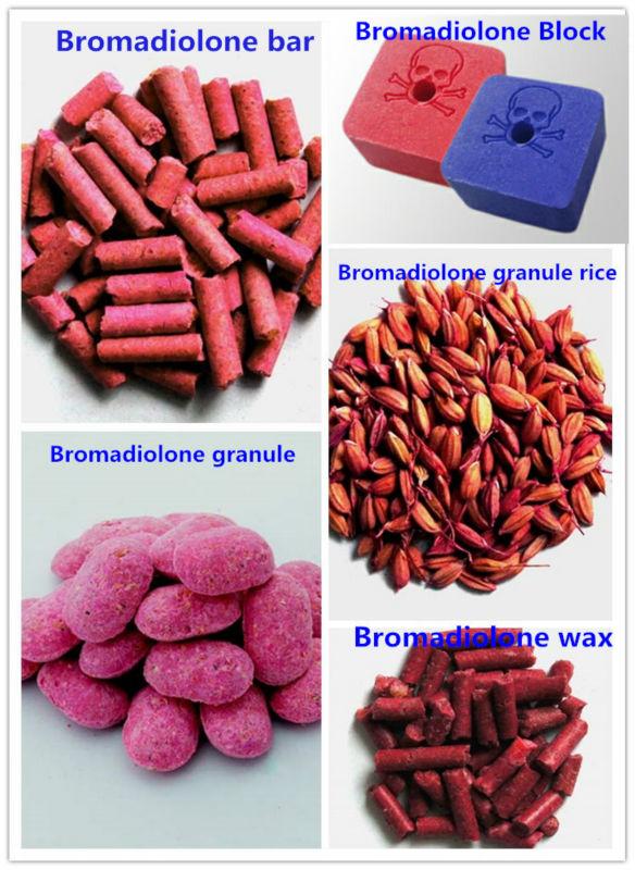 Azul cebo rodenticida bloques de cera bromadiolone veneno - Cebos para ratones ...