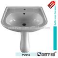acessórios de banheiro cerâmica pedesta pia lavatório po141