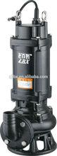 WQ(D)-SA Sewage submersible pump stainless steel impeller /shaft cast iron water pump