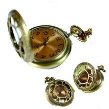 New Retro Vintage Golden Literally Sunflowers Quartz Pocket Watch Chain Necklace Pendant Gift