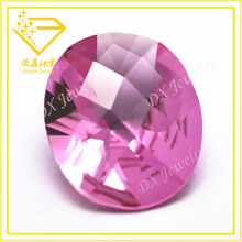 Pink high quality glass stone machine oval cut faceted glass