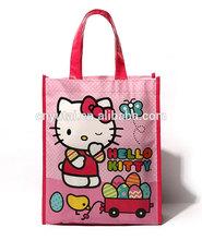 Hello kitty printed fashion cheap non-woven bag