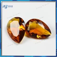 China supplier providing pear shape semi precious machine cut crystal glass stone factory price