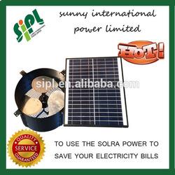 New Products, 14 inch 15 watt DC Rechargable Solar Window Fan