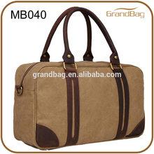 Fashion high quality canvas men handbag, leather handle shoulder bag