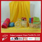 bright colored satin soft bath cotton towel