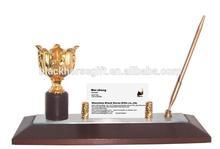 Bauhinia image desktop stationery set with card holder and pen holder