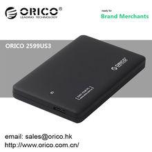 Hot sale ORICO 2599US3 USB 3.0 1tb external hard disk drive enclosure USB 2.5 inch SATA HDD enclosure