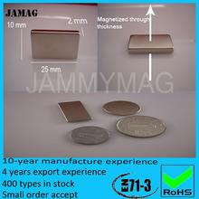 N35 Zinc plating neodymium block magnet