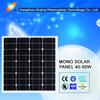 high efficiency monocrystalline solar panel 50w