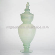 Green Jade design wholesale glass apothecary jars
