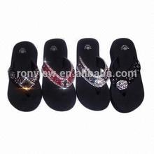 New arrival fashion rhinestone flip flop for woman