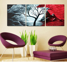 DIY digital abstract tree oil painting for decor and gifts