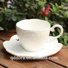 2014 Top bone china tea or coffee cup and saucer plain white
