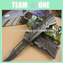 Sharp Tactical Folding Knife CNC G10 Handle Plain Power Edge