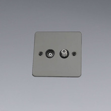 British Standard Wall 1 Gang Satellite Socket and TV socket