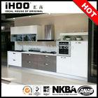 AK4136 Prefab mini kitchen modern design with kitchen island