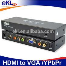 HDMI converter HDMI 2 VGA + Ypbpr, HDMI to VGA with audio converter box