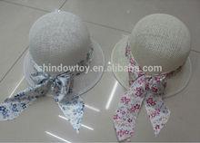 Paper bucket hat wth round crown, Fshion ladies bucket hat