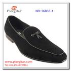 Tie Up Mens Black Velvet Loafers