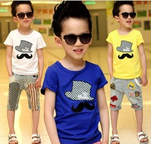 Z81494C korean newest fashion 100%cotton children's t-shirts boy's t-shirts kids t-shirts