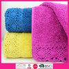 Wholesale bath towel 100% cotton lace bath towel