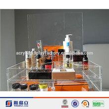 2015 Hot Sale!!! Factory Custom Acrylic Makeup Drawer Organizers