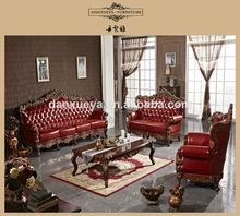 European Style Elegant Hotel Leather Sofa Set DXY-833#