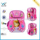 lovely children backpack for girl,2014 Princess school bag