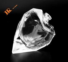 Heart shaped transparent clear perfume bottle glass bottle 25ml
